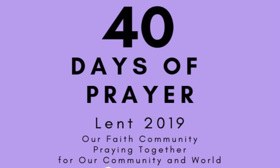 40 Days of Prayer – Lent 2019 - Presbyterian Church of Easton